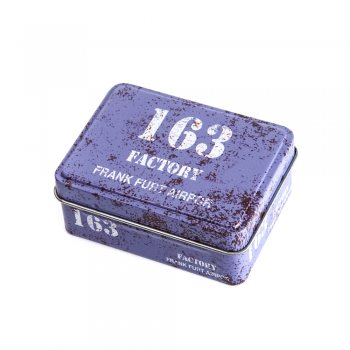 "Коробочка жестяная прямоугольная 8х6х3,2 см ""163 Factory"""