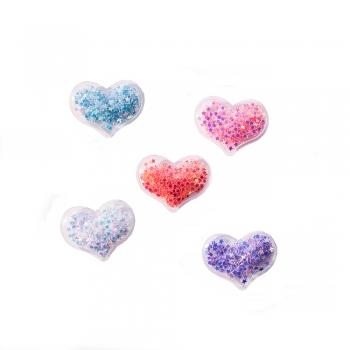 Декоративный элемент сердце со звездочками внутри