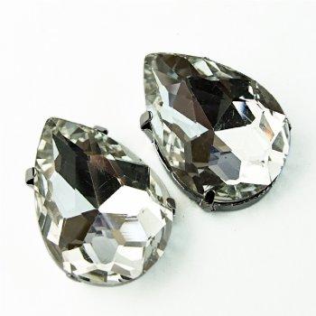 Стрази скляні в металевій оправі (уп 2 шт)