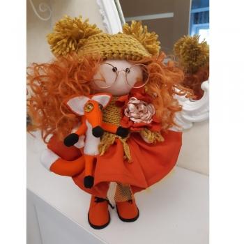 Лялька Лисичка (ручна робота)