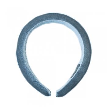 Обруч пластиковый с бархатным покрытием серый
