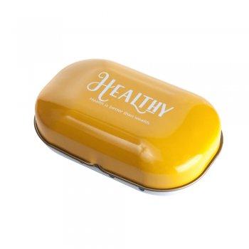 Коробочка жестяная 9 х 5,5 х 3,3 см желтая