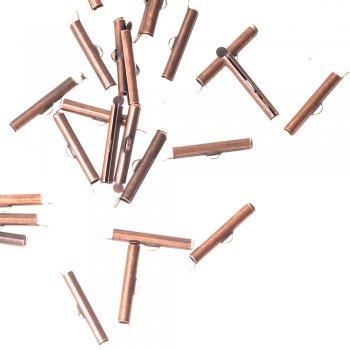 Затискачі для шнурів циліндр мідний колір