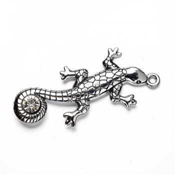 Кулон металевий Ящірка
