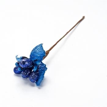 Декоративна тичинка, синя з блискітками