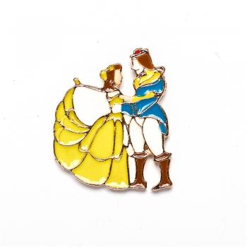 Значок пін красуня і принц