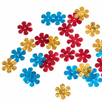 Пайетки микс цветов 25 мм