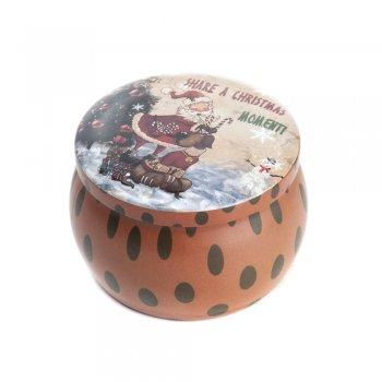 """Коробочка жестяная 7,4 х 5,2 см """"Рождественское настроение"""""""
