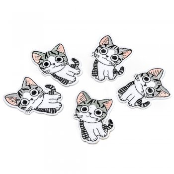 Тканевая нашивка Любопытный котенок