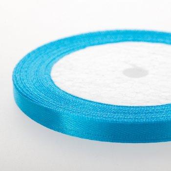 Лента атласная. Ярко-голубой. 7 мм.