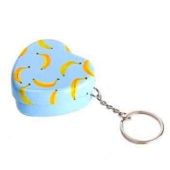 "Коробочка жестяная с кольцом для брелка, 50х45х20мм ""Банан"""