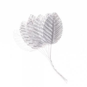 Штучні листя сріблястий