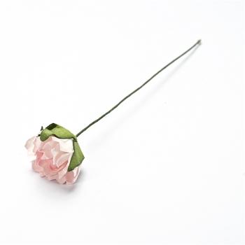 Штучна квітка. Троянда. Біло-рожева