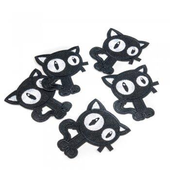 Тканинна нашивка Чорний кіт