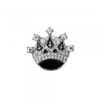 Бусина кнопка SNAP з емаллю Корона