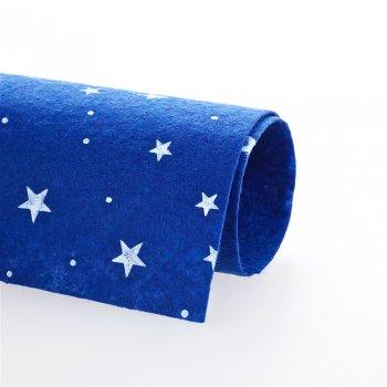 Фетр с рисунком синий