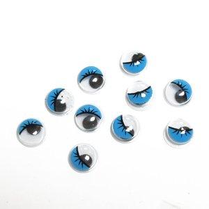 Пластиковые голубые глазки