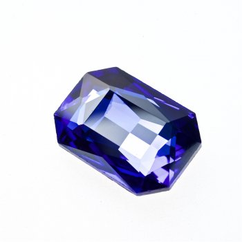 Стразы стеклянные вставные. Синий. Длина 25 мм, ширина 18 мм.