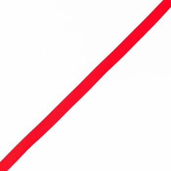 Лента репсовая 1 см яркий красный
