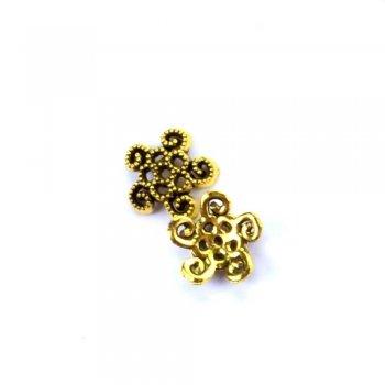 Металлический литой обниматель, под черненое золото, 12 мм