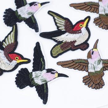 Тканинна нашивка Пташка