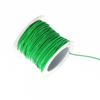 Шнур резинка, зелений, 1мм