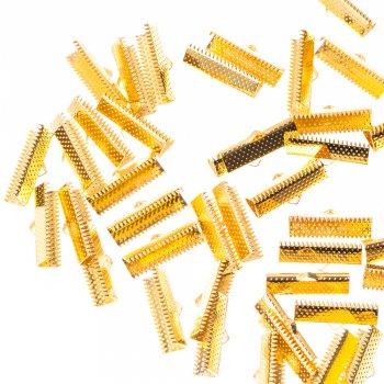 Зажимы для лент золото 20 мм