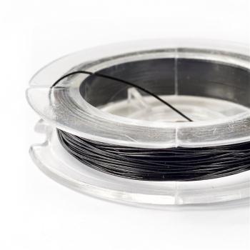 Металева волосінь. Чорний. 0.38 мм