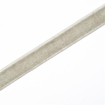 Лента бархатная 10 мм светло-серая