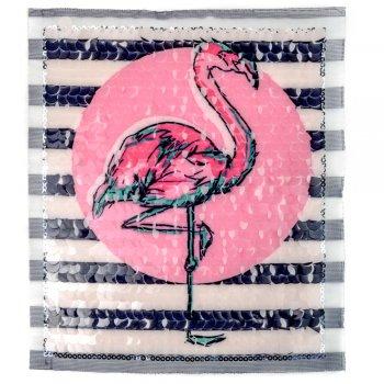 """Тканевая нашивка """"Фламинго"""""""
