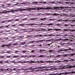 Шнур-кіска бузковий шкірзамінник 3 мм