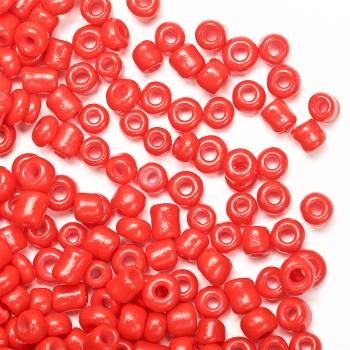 Бісер круглий дрібний, червоний матовий. Калібр 12 (1,8 мм)