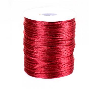 Шнур бордовый полиэстеровый 2 мм