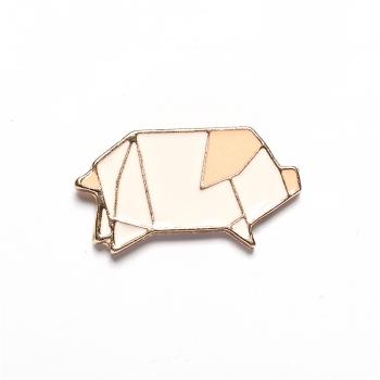 Значок пин Геометрическая свинка