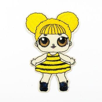 Тканинна нашивка Лялька ЛОЛ Бджілка