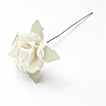 Искусственный цветок. Роза. Белая