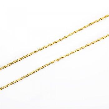 """Ланцюг золотий плетіння """"равлик"""" 3 х 8 х 0,6 мм"""