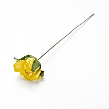 Искусственный цветок. Роза. Желтая