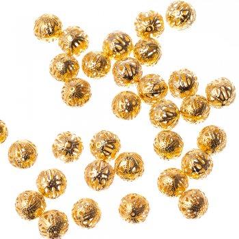 Ажурные бусины золотой 16 мм
