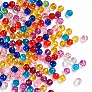 Пластиковые кристаллы, граненая бусина, 6 мм