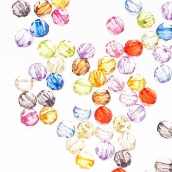 Пластиковые кристаллы круглые граненые