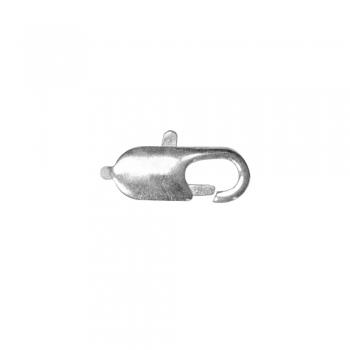 Карабин овальный, серебро, 14 мм