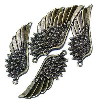 Кулон металлический(крыло) бронза