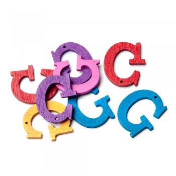 Підвіски дерев'яні, буква G