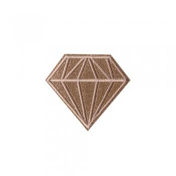 Тканинна нашивка Діамант Бежевий