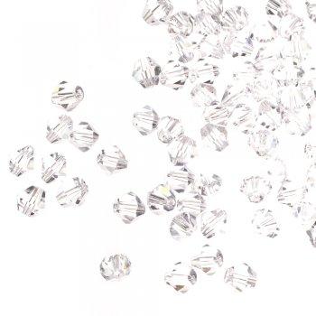 Бусина двуконическая, прозрачная, хрусталь, 8 мм