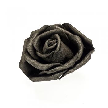 Штучна квітка чорна 65 мм