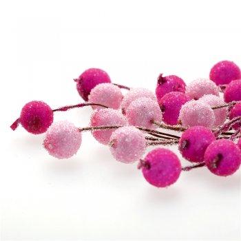 Декор Рожеві намистини на дроті