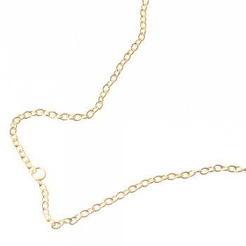 Цепь под золото средняя якорная 4х5,5х1 мм
