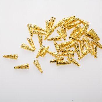 Конусы и колпачки золотые 22 мм